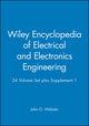 Wiley Encyclopedia of Electrical and Electronics Engineering, 24 Volume Set plus Supplement 1 (0471390526) cover image
