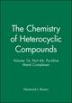 Pyridine Metal Complexes, Part 6A (0470239727) cover image