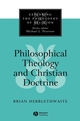 Philosophical Theology and Christian Doctrine (0631211527) cover image