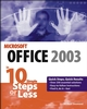 Microsoft Office 2003 in 10 Simple Steps or Less (0764542427) cover image