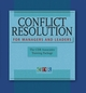Conflict Resolution for Managers and Leaders: The CDR Associates Training Package, Trainer's Manual (0787985627) cover image