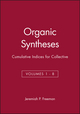 Organic Syntheses: Cumulative Indices for Collective Volumes 1 - 8 (0471311928) cover image