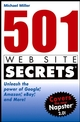 501 Web Site Secrets: Unleash the Power of Google, Amazon, eBay and More (0764568728) cover image