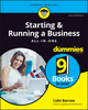 Starting and Running a Business All-in-One For Dummies, 3rd UK Edition (1119361028) cover image
