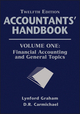 Accountants' Handbook, Volume One, Financial Accounting and General Topics, 12th Edition (1118171829) cover image
