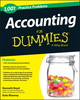 1,001 Accounting Practice Problems For Dummies (1118853229) cover image