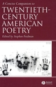 A Concise Companion to Twentieth-Century American Poetry (1405120029) cover image