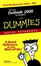 Microsoft Outlook 2000 For Windows For Dummies Quick Reference (076450472X) cover image