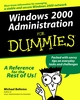 Windows 2000 Administration For Dummies (076450682X) cover image