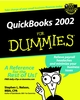QuickBooks 2002 For Dummies (076450892X) cover image