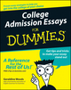College Admission Essays For Dummies (111806982X) cover image