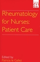 Rheumatology for Nurses: Patient Care (186156032X) cover image