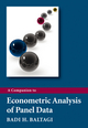 A Companion to Econometric Analysis of Panel Data (0470744030) cover image