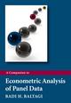 A Companion to Econometric Analysis of Panel Data (0470744030) cover image