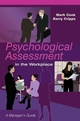 Psychological Assessment in the Workplace: A Manager's Guide (0470861630) cover image