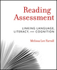 Reading Assessment: Linking Language, Literacy, and Cognition (0470873930) cover image