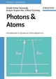Photons and Atoms: Introduction to Quantum Electrodynamics (0471184330) cover image
