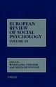 European Review of Social Psychology, Volume 10 (0471608130) cover image