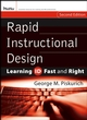 Rapid Instructional Design: Learning ID Fast and Right, 2nd Edition (0787980730) cover image