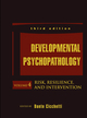 Developmental Psychopathology, Volume 4, Risk, Resilience, and Intervention, 3rd Edition (1118120930) cover image