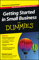 Getting Started in Small Business For Dummies, 2nd Australian and New Zealand Edition (1118222830) cover image