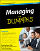 Managing For Dummies, 3rd Edition (0470618132) cover image