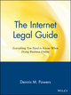 The Internet Legal Guide: Everything You Need to Know When Doing Business Online (0471164232) cover image
