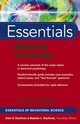 Essentials of Abnormal Psychology (0471656232) cover image