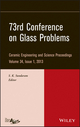 73rd Conference on Glass Problems, Volume 34, Issue 1 (1118686632) cover image