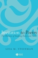 Invitation to Poetry: The Pleasures of Studying Poetry and Poetics (1405131632) cover image