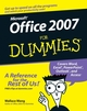 Office 2007 For Dummies (0470009233) cover image