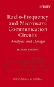Radio-Frequency and Microwave Communication Circuits: Analysis and Design, 2nd Edition (0471478733) cover image