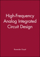 High-Frequency Analog Integrated Circuit Design  (0471530433) cover image
