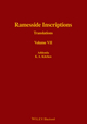 Ramesside Inscriptions, Volume VII, Addenda to I - VI: Translated and Annotated, Translations (0631184333) cover image