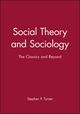 Social Theory and Sociology: The Classics and Beyond (0631191933) cover image