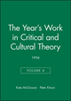 The Year's Work in Critical and Cultural Theory Volume 4: 1994, Volume 4 (0631205233) cover image