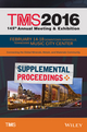 TMS 2016 Supplemental Proceedings: 145th Annual Meeting and Exhibition (1119225833) cover image