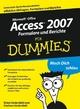 Access 2007 Formulare und Berichte für Dummies (3527657533) cover image
