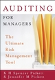 Auditing for Managers: The Ultimate Risk Management Tool (EHEP000933) cover image