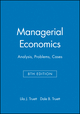 Managerial Economics: Analysis, Problems, Cases, 8th Edition (0470009934) cover image