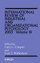 International Review of Industrial and Organizational Psychology, 2003 Volume 18 (0470847034) cover image