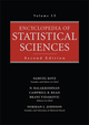 Encyclopedia of Statistical Sciences, Volume 15, 2nd Edition (0471744034) cover image
