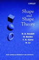 Shape and Shape Theory (0471968234) cover image