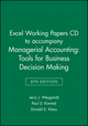 Excel Working Papers CD to accompany Managerial Accounting: Tools for Business Decision Making, 6e (1118064534) cover image