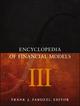 Encyclopedia of Financial Models, Volume III (1118539834) cover image