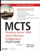 MCTS Windows Server 2008 Active Directory Configuration Study Guide: Exam 70-640 (0470383135) cover image