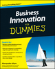 Business Innovation For Dummies (0470649135) cover image