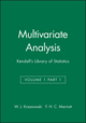 Multivariate Analysis: Kendall's Library of Statistics, Volume 1 Part 1 (0470711035) cover image