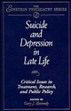 Suicide and Depression in Late Life: Critical Issues in Treatment, Research and Public Policy (0471129135) cover image
