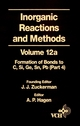 Inorganic Reactions and Methods, Volume 12B, The Formation of Bonds to Elements of Group IVB (C, Si, Ge, Sn, Pb) (Part 4) (0471186635) cover image